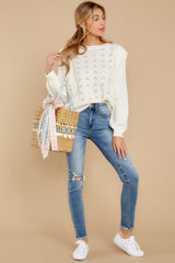 4 All About Me Ivory Sweater at reddressboutique.com