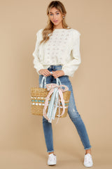 3 All About Me Ivory Sweater at reddressboutique.com