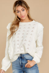 5 All About Me Ivory Sweater at reddressboutique.com