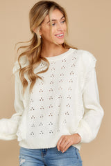 8 All About Me Ivory Sweater at reddressboutique.com