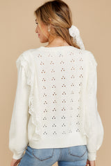 9 All About Me Ivory Sweater at reddressboutique.com