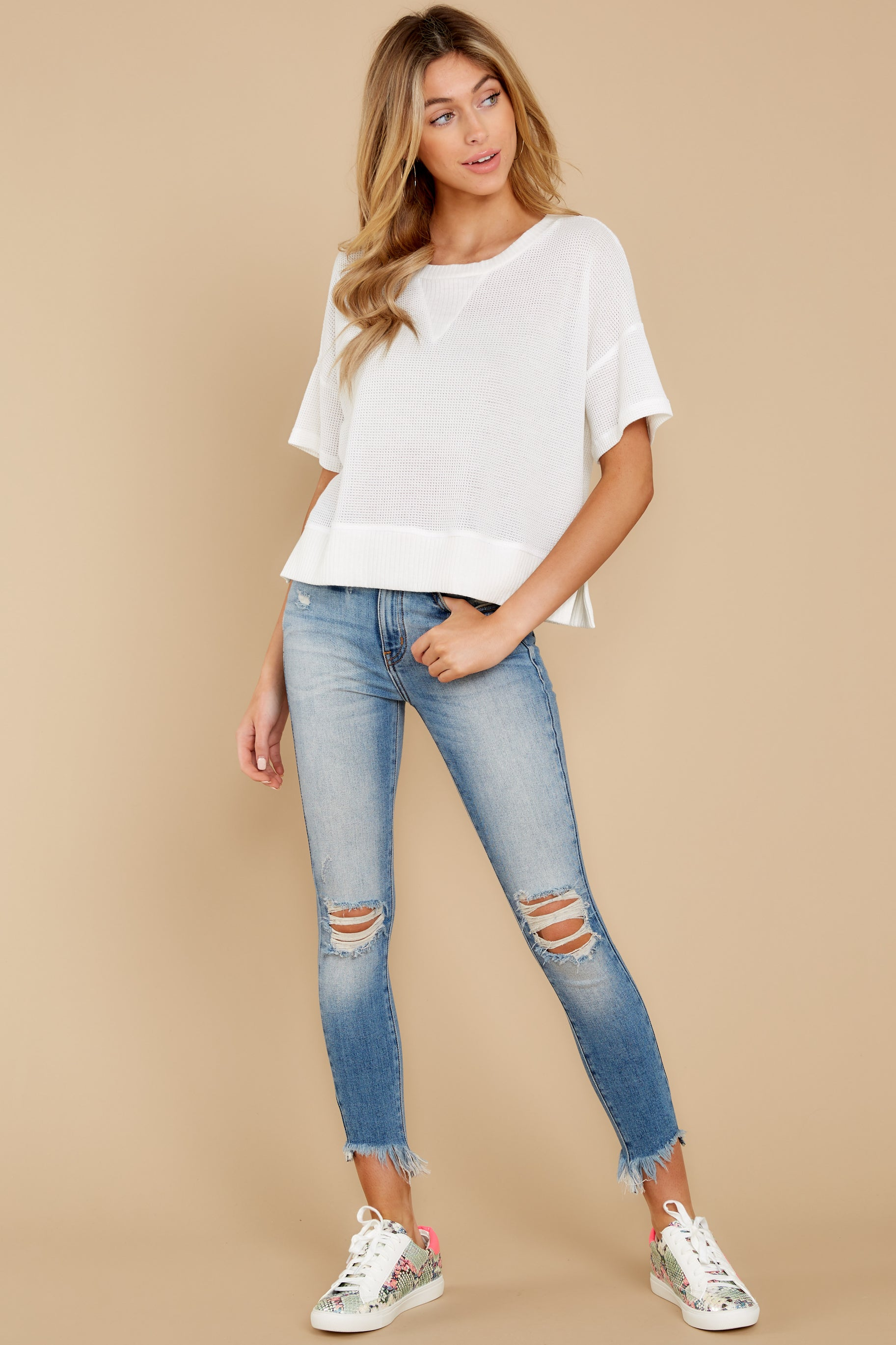 2 It's All Casual White Top at reddress.com