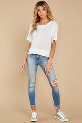 3 It's All Casual White Top at reddress.com