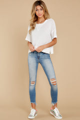 4 It's All Casual White Top at reddress.com