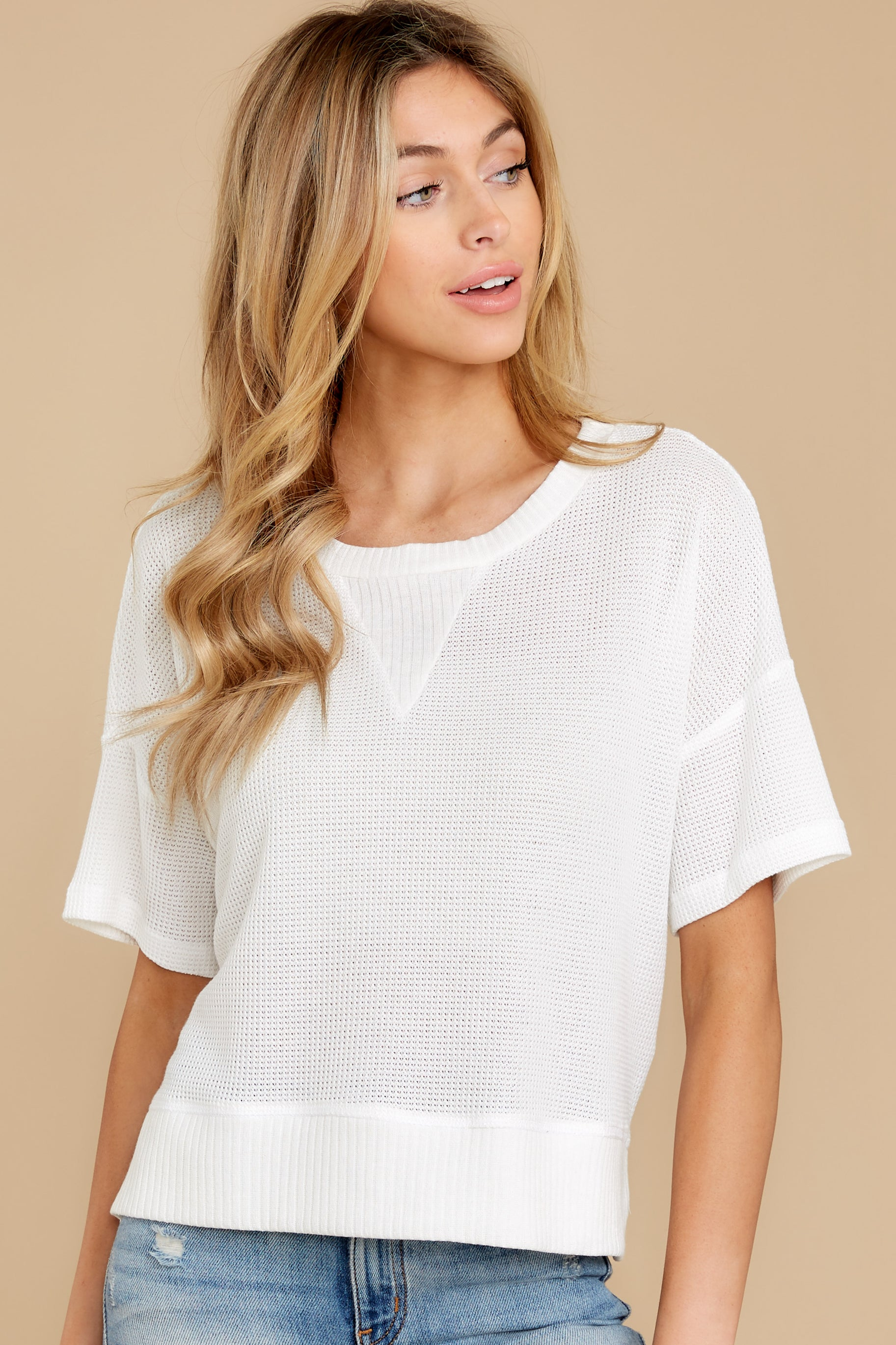 6 It's All Casual White Top at reddress.com