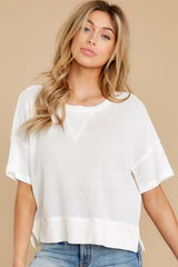 7 It's All Casual White Top at reddress.com