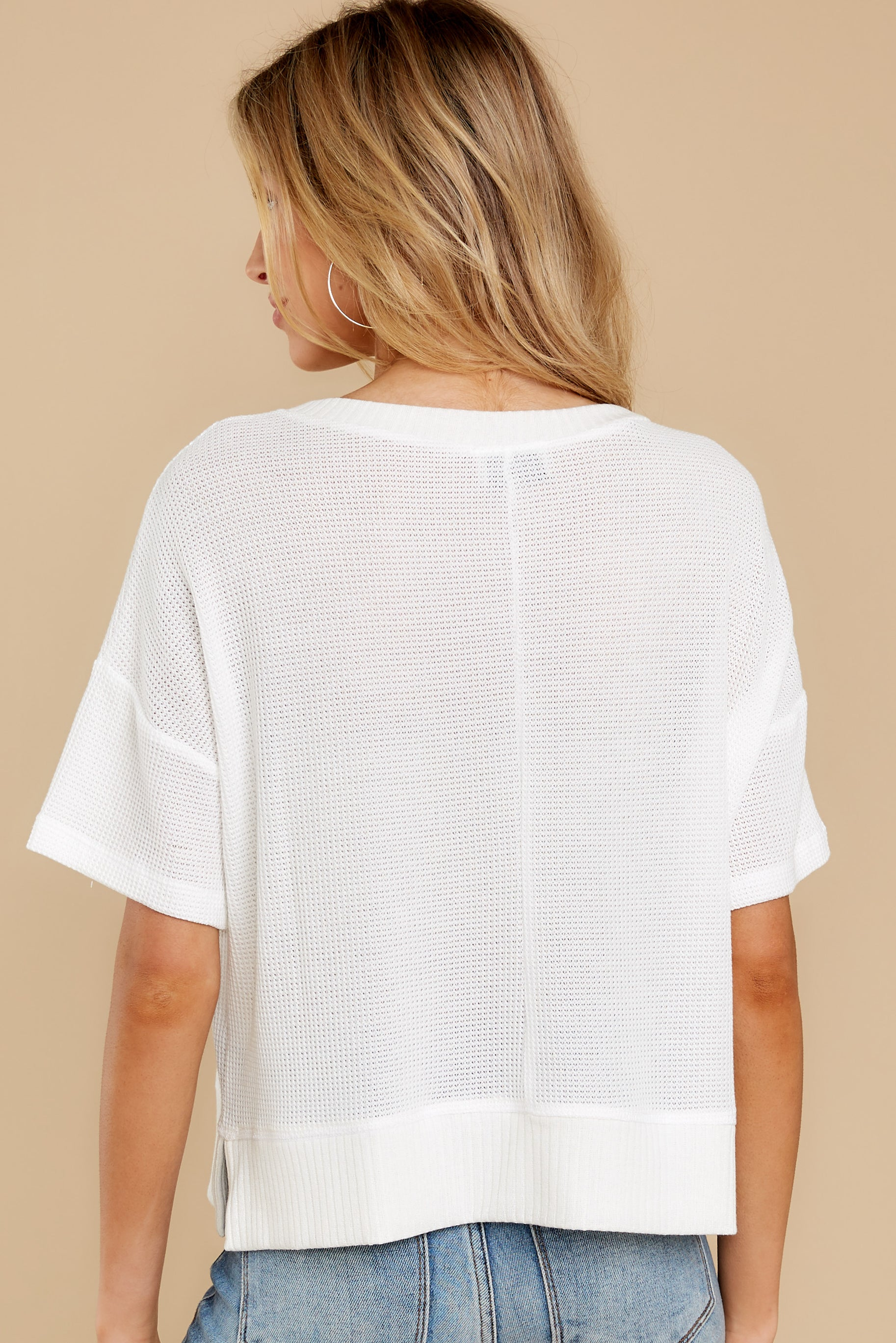 8 It's All Casual White Top at reddress.com
