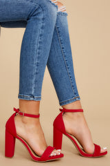 1 Never Grow Up Red Ankle Strap Heels at reddressboutique.com