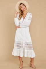 6 Call This Classic White Lace Midi Dress at reddressboutique.com