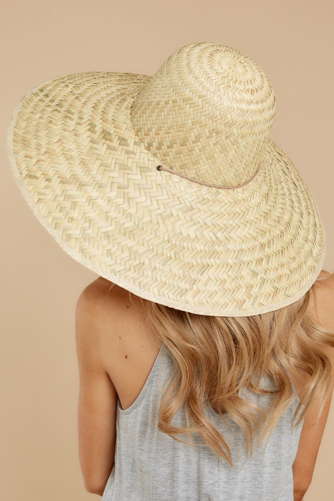 1 Palma Natural Boater Hat at reddress.com