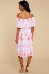 8 Walk Together Lavender Print Midi Dress at reddressboutique.com