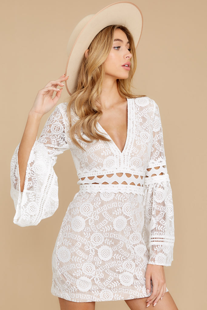 5 Keep On Wishing Ivory Dress at reddressboutique.com