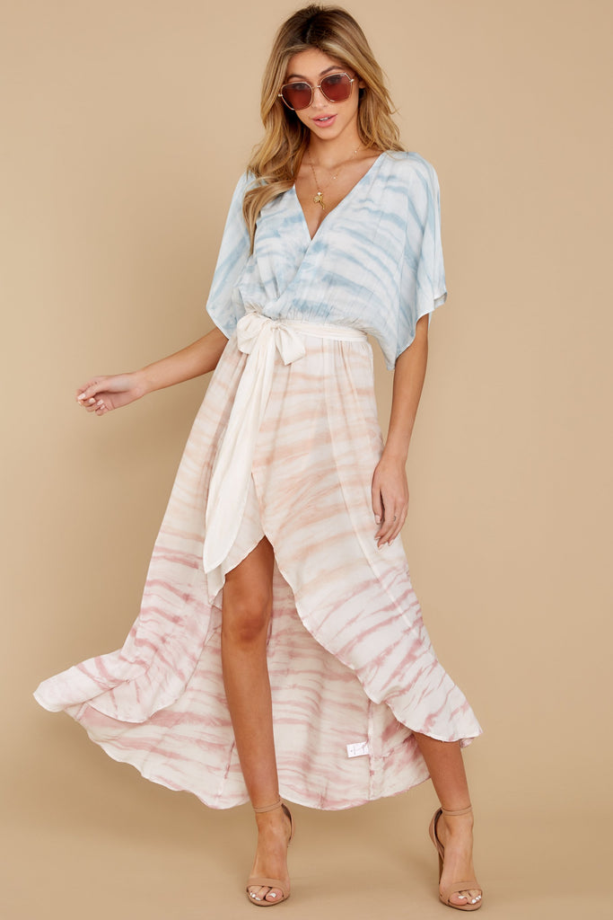 1 Roam With You Light Blue Multi Midi Dress at reddress.com
