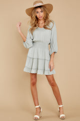 4 Got It Going On Light Sage Green Dress at reddressboutique.com