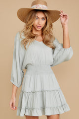 5 Got It Going On Light Sage Green Dress at reddressboutique.com
