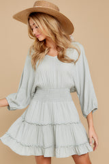 6 Got It Going On Light Sage Green Dress at reddressboutique.com