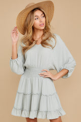 7 Got It Going On Light Sage Green Dress at reddressboutique.com
