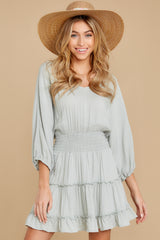8 Got It Going On Light Sage Green Dress at reddressboutique.com