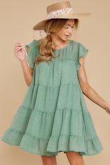 5 Feeling Fine Sage Dress at reddressboutique.com