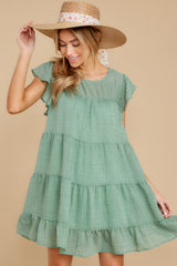 6 Feeling Fine Sage Dress at reddressboutique.com