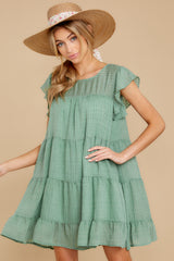 7 Feeling Fine Sage Dress at reddressboutique.com