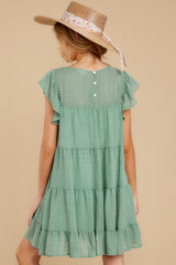 8 Feeling Fine Sage Dress at reddressboutique.com