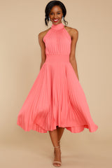 3 Fashionably Late Pink Midi Dress at reddressboutique.com