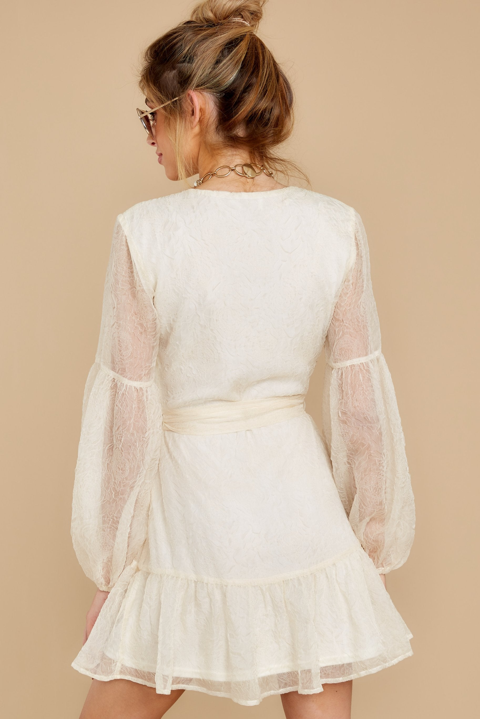 8 When It Comes To Love Vintage Ivory Dress at reddressboutique.com