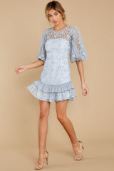 3 Sweet Love Light Blue Lace Dress at reddressboutique.com