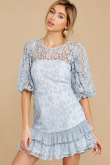 5 Sweet Love Light Blue Lace Dress at reddressboutique.com