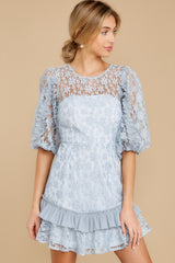 7 Sweet Love Light Blue Lace Dress at reddressboutique.com