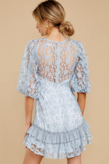 8 Sweet Love Light Blue Lace Dress at reddressboutique.com