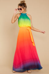 4 Walk Your Talk Rainbow Maxi Dress at reddressboutique.com