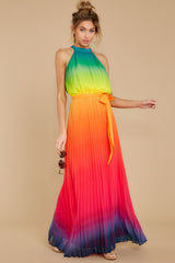 6 Walk Your Talk Rainbow Maxi Dress at reddressboutique.com