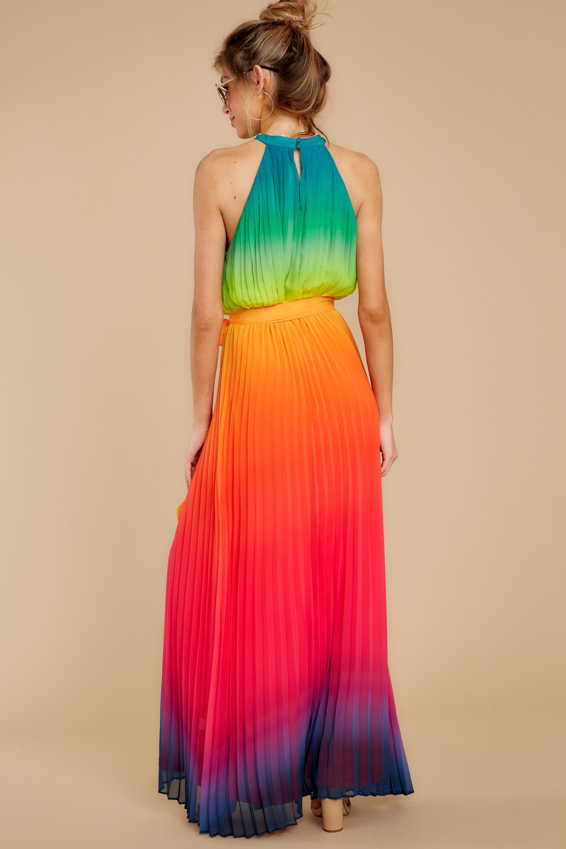 8 Walk Your Talk Rainbow Maxi Dress at reddressboutique.com