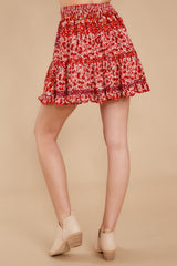 9 Sweet Rendezvous Red Floral Print Two Piece Set at reddress.com