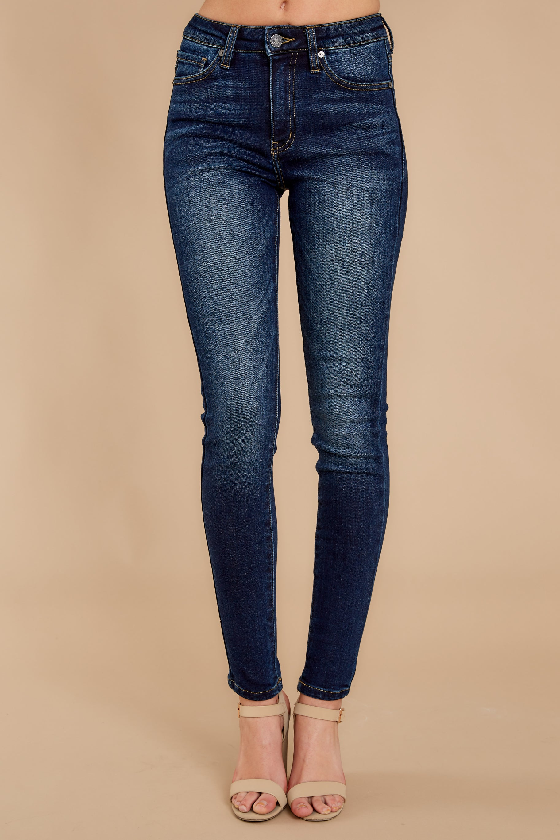 2 Perfect Aim Dark Wash Skinny Jeans at reddressboutique.com
