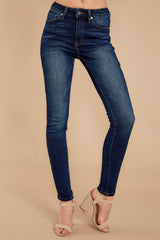 1 Perfect Aim Dark Wash Skinny Jeans at reddressboutique.com