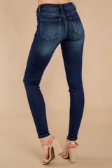 3 Perfect Aim Dark Wash Skinny Jeans at reddressboutique.com