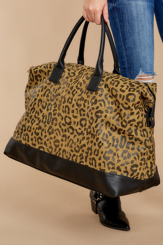 1 Quick To Leave Beige Weekender Bag at reddressboutique.com