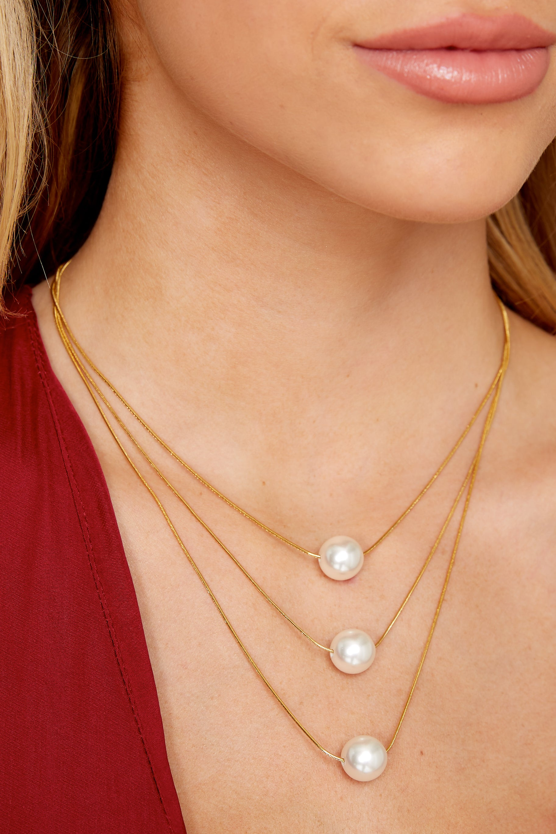1 Julie Pearl Necklace at reddressboutique.com