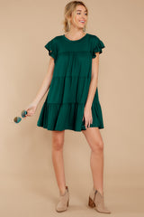 Sweet Persuasion Hunter Green Dress