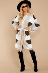 5 Live The Dream Grey Multi Cardigan at reddressboutique.com