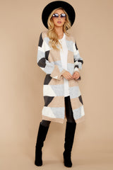 2 Live The Dream Grey Multi Cardigan at reddressboutique.com