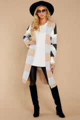4 Live The Dream Grey Multi Cardigan at reddressboutique.com