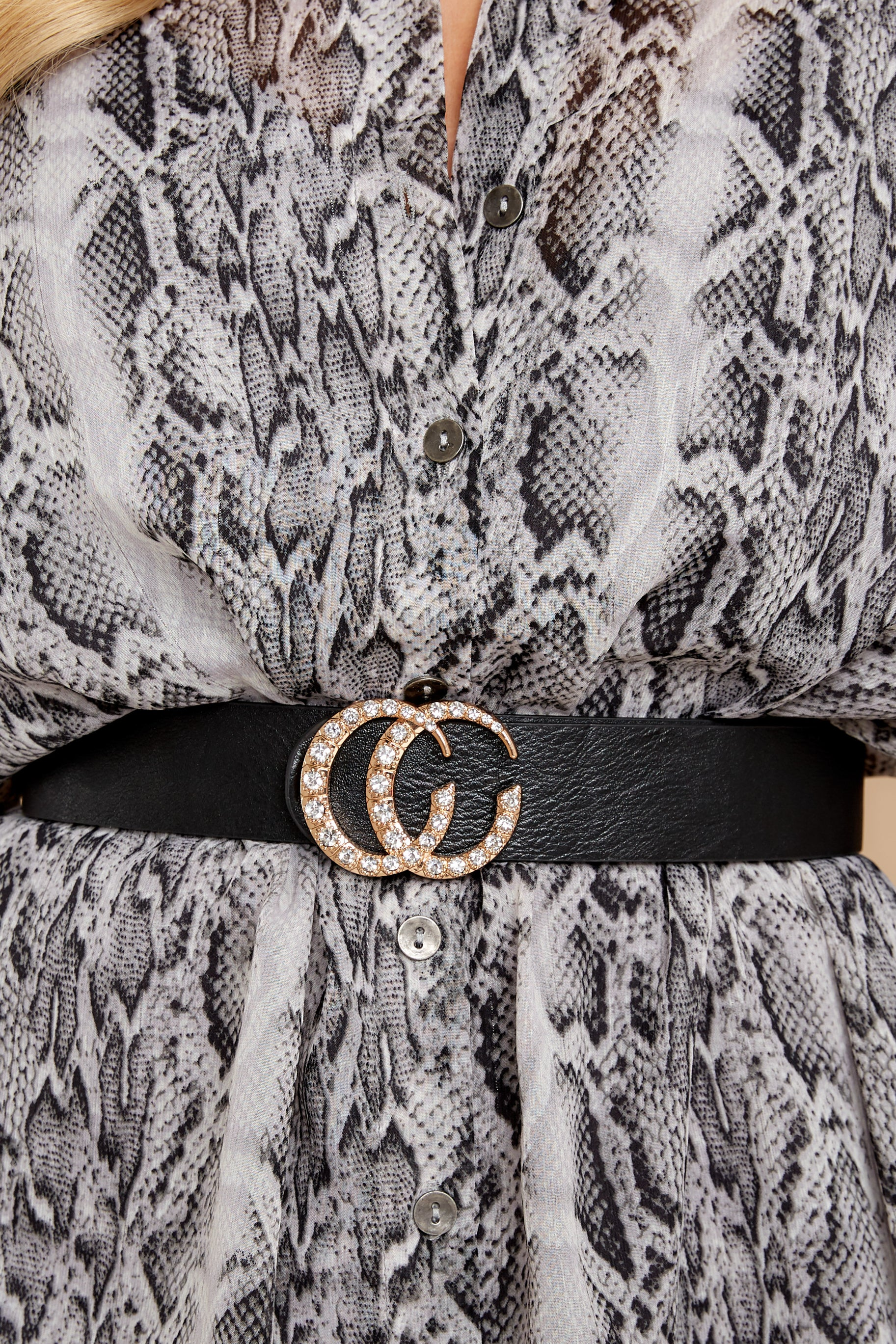 1 Let It Linger Black Belt at reddressboutique.com