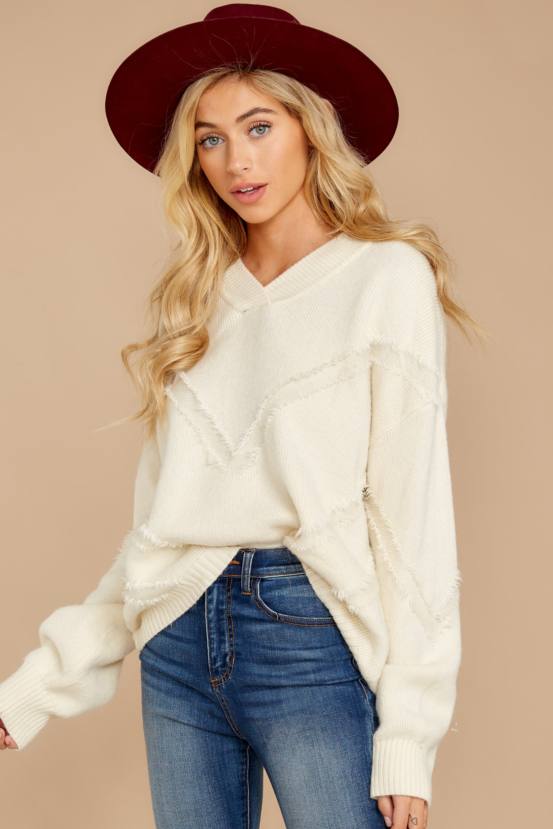 2 More Than Others Ivory Sweater at reddressboutique.com