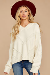 3 More Than Others Ivory Sweater at reddressboutique.com