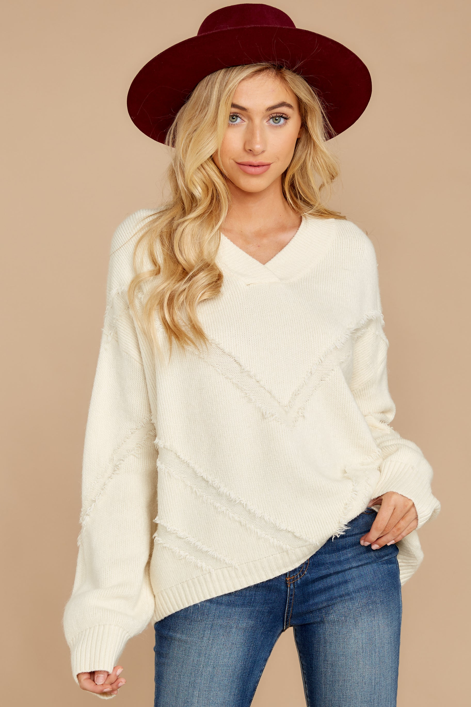 5 More Than Others Ivory Sweater at reddressboutique.com