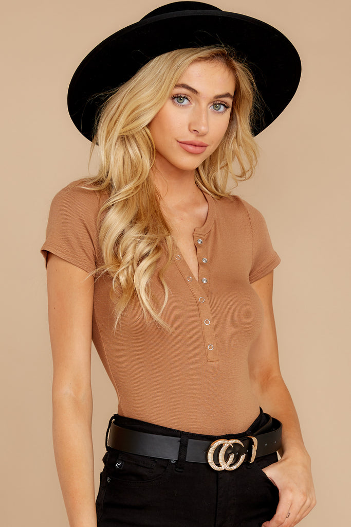1 Covering The Basics Tan Bodysuit at reddress.com